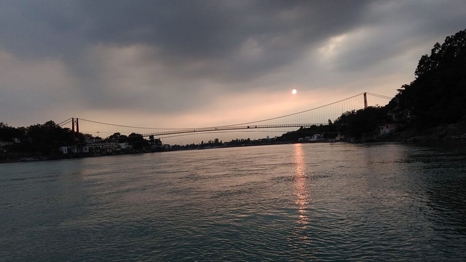 sunset in rishikesh
